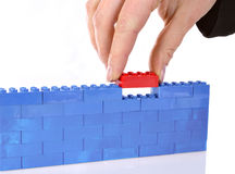 Colored blocks Stock Photography
