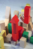 Colored blocks. Colored wooden toy blocks stock photo