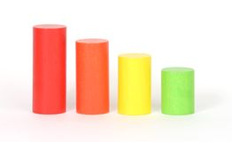 Colored blocks Stock Image