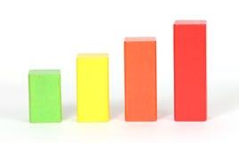 Colored blocks. A studio photo of colored blocks stock photo