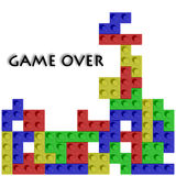 Colored blocks. In game and text on white background Stock Image