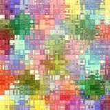 Colored blocks pattern Stock Image