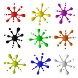 Colored blots. Set of colored blots on white background Royalty Free Stock Photos