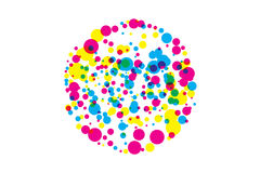 Colored blots cmyk Royalty Free Stock Images