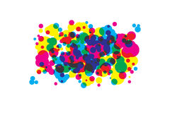 Colored blots cmyk Stock Photos