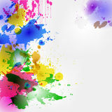 Colored blots. Colorful watercolor stains and drops , background, backdrop, design or packaging, colored spots, eps10 Stock Image