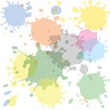 Colored blots. Many colored blots, vector illustration Stock Photography