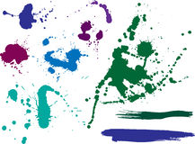 Colored blots and splashes Stock Image
