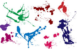 Colored blots and splashes set2. Blots and splashes in color for the decor, design and brushes Royalty Free Stock Photography