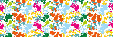 Colored blots on the white background seamless pattern Blue Spot Green Stain Pink Smudge Orange Blot Yellow Smear Dab and blotch s. Colored blots on the white Royalty Free Stock Images