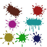 Colored blots on the white background. Set of colored blots on the white background stock illustration
