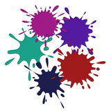 Colored blots on the white background Stock Images
