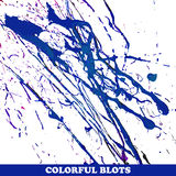 Colored blots on the white background. Vector illustration Stock Photos