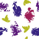 Colored Blots on White Background. Vector Illustration EPS10 Royalty Free Stock Image