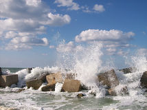 Colored Blowing waves Stock Photography