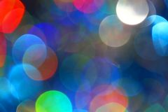 Colored blur defocused background with bokeh effect Royalty Free Stock Photo