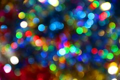 Colored blur defocused background with bokeh effect Stock Photo