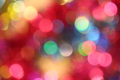 Colored blur defocused background with bokeh effect Royalty Free Stock Photos