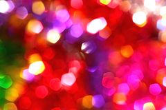 Colored blur defocused background with bokeh effect Royalty Free Stock Images