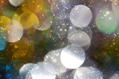 Colored blur defocused background with bokeh effect Stock Images