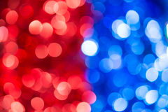 Colored of blurred lights bokeh. Abstract Red and blue Christmas background royalty free stock photo