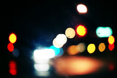 Colored blurry lights Stock Photography