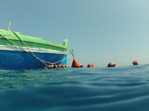 Colored boat Stock Photos