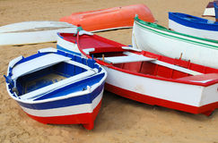 Colored boats Stock Photos