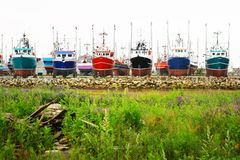Colored boats Stock Photography