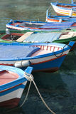 Colored boats Stock Image