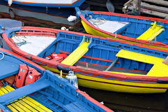 Colored boats Royalty Free Stock Image