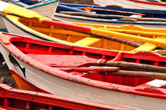 Colored boats Royalty Free Stock Photos