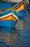 Colored boats  of Malta Stock Photography
