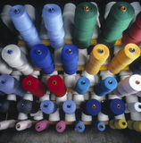 Colored bobbins Royalty Free Stock Images