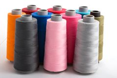 Colored bobin threads Royalty Free Stock Image