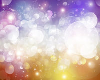 Colored bokeh. Beautiful reflections of light on colored background royalty free illustration