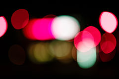 Colored bokeh background. Abstract defocused lights of the night city bokeh background Stock Images