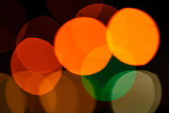 Colored bokeh background. Abstract defocused lights of the night city bokeh background Royalty Free Stock Photos