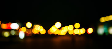 Colored bokeh background. Abstract defocused lights of the night city bokeh background Royalty Free Stock Photography