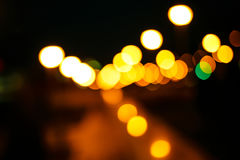 Colored bokeh background. Abstract defocused lights of the night city bokeh background Stock Image