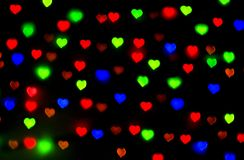 Colored bokeh background. Colorful background with defocused lights - raster version Royalty Free Stock Images