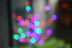 Colored bokeh circles beautiful defocusing. Colored bokeh circles, beautiful defocusing background, holiday, and other purposesn stock photography