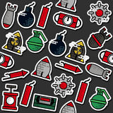 Colored Bomb icons pattern royalty free illustration