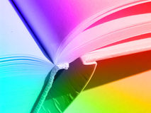 Colored book. Showing diversity of culture that it can bring. Also, diversity of communication means and languages Stock Photo