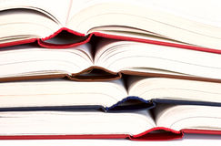 Colored book. Coloured, open books each other Royalty Free Stock Photos