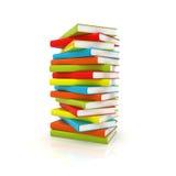 Colored books Stock Photos