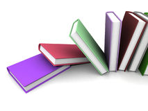 Colored books Stock Photo