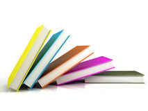 Colored books royalty free stock photos