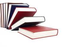 Colored books. Each other bust Royalty Free Stock Image