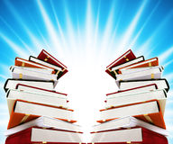 Colored books on background. Colored books on abstract background Stock Images